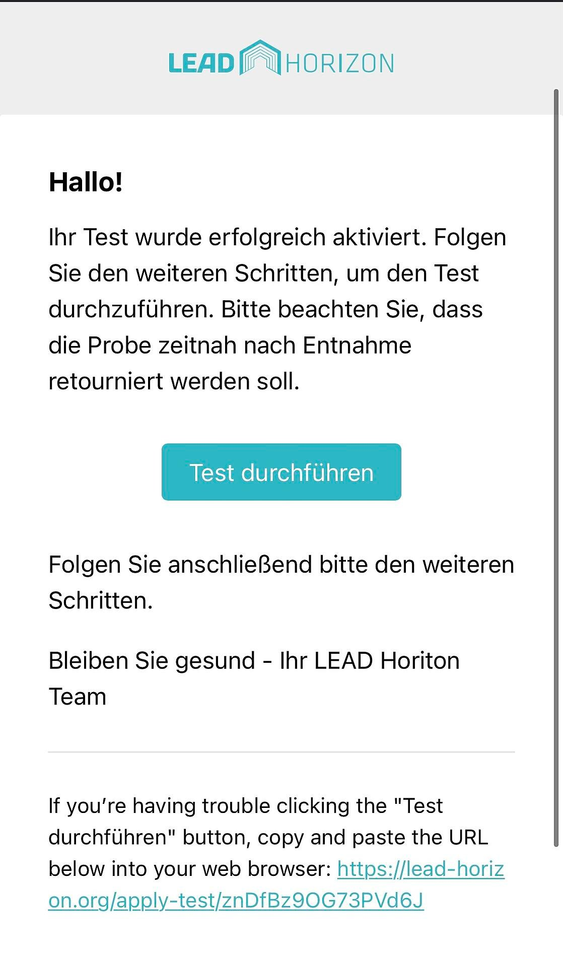 WebApp LEAD Horizon