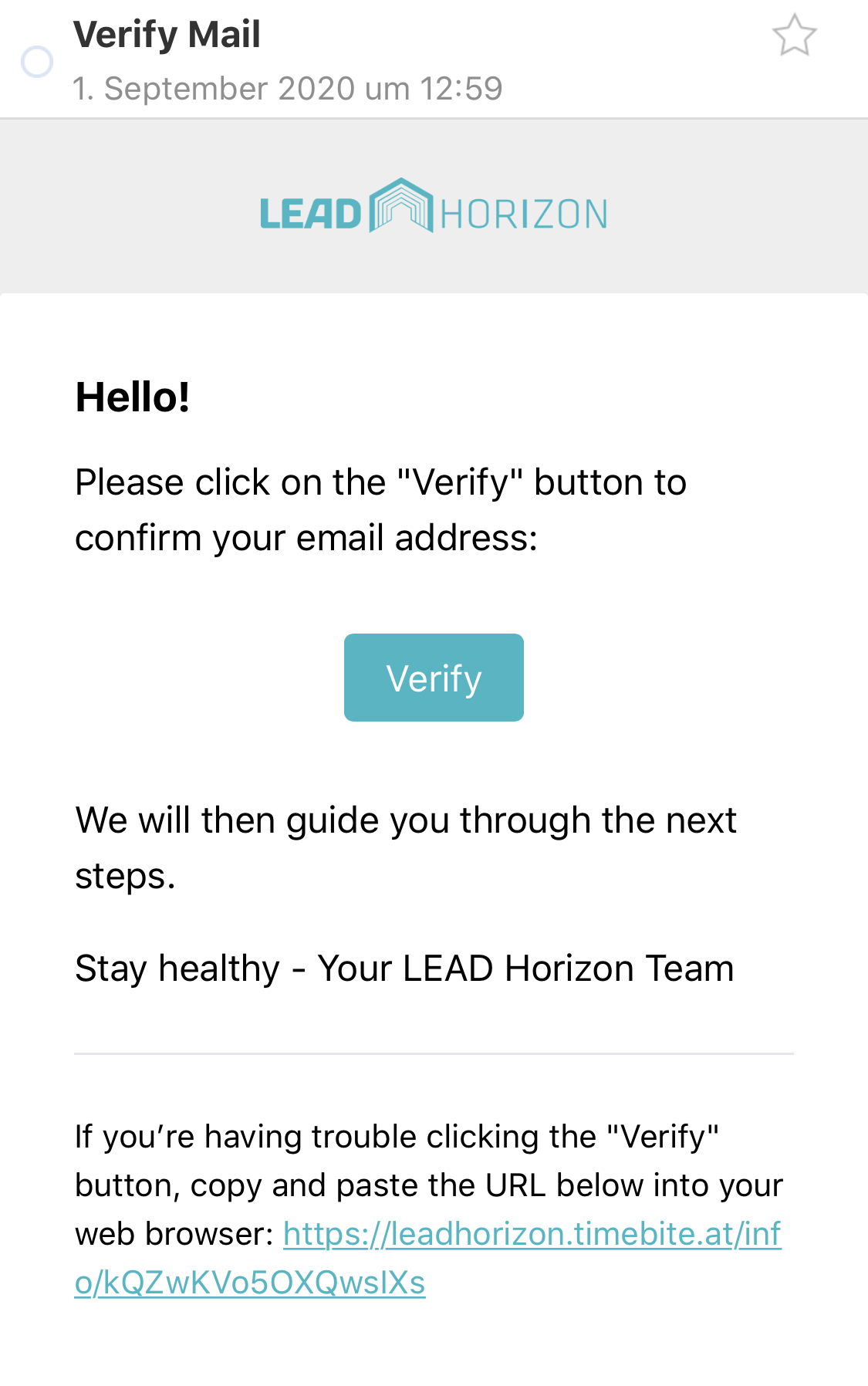 Verify E-Mail